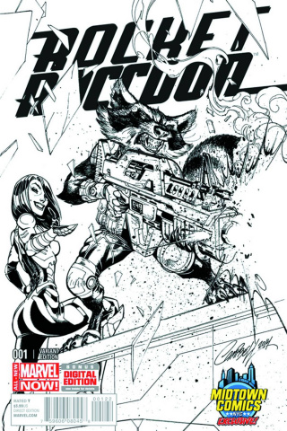 Rocket Raccoon #1 (Midtown Campbell Cover)