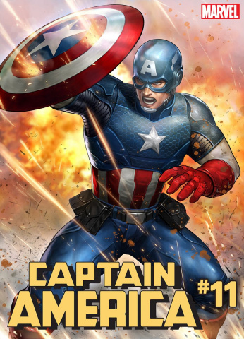 Captain America #11 (Yoon Lee Marvel Battle Lines Cover)