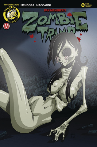 Zombie Tramp #54 (Mendoza Risque Cover)