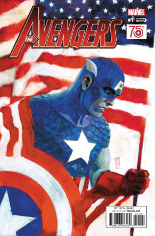 Avengers #1 (Captain America 75th Anniversary Cover)