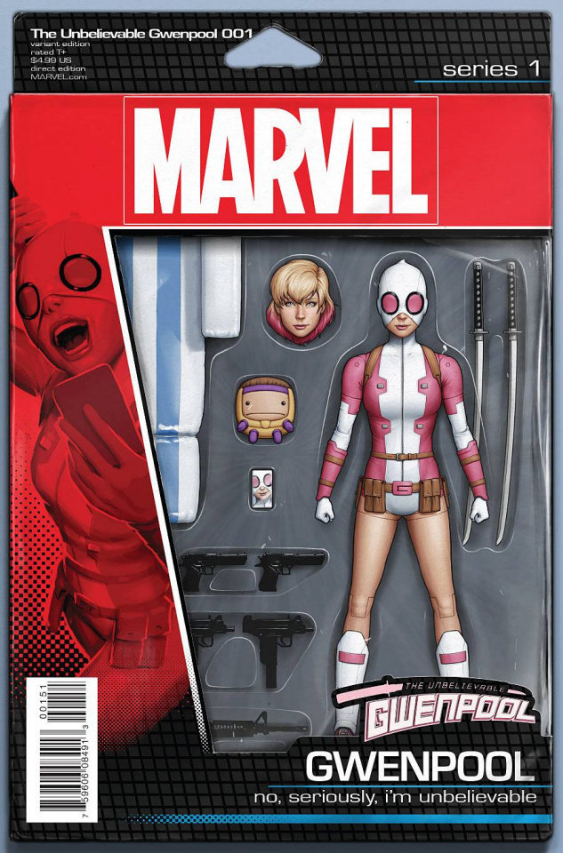Gwenpool #1 (Christopher Action Figure Cover)