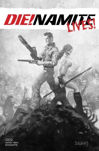 DIE!namite Lives! #2 (7 Copy Suydam B&W Cover)