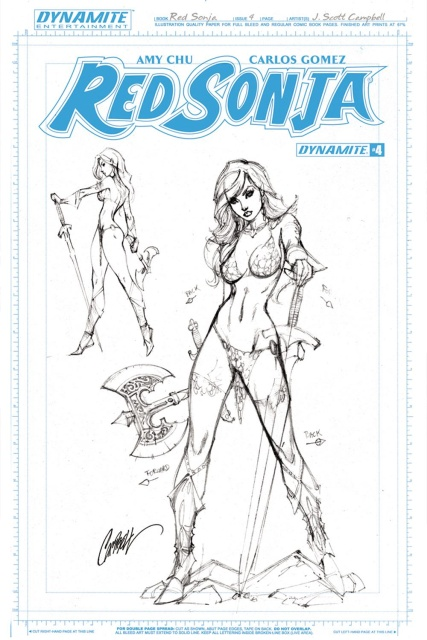 Red Sonja #4 (25 Copy Campbell Artboard Cover)
