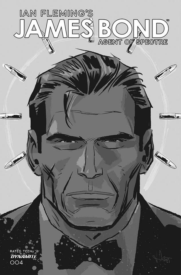 James Bond: Agent of SPECTRE #4 (11 Copy Casalanguida B&W Cover)