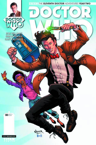 Doctor Who: New Adventures with the Eleventh Doctor, Year Two #8 (Nauck Cover)