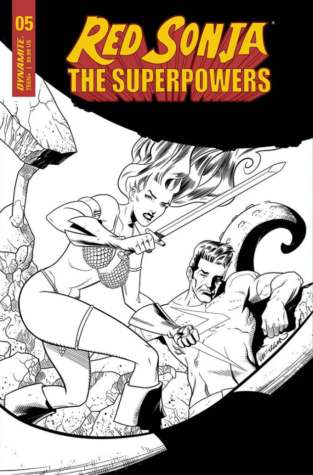 Red Sonja: The Superpowers #5 (11 Copy Davila B&W Cover)
