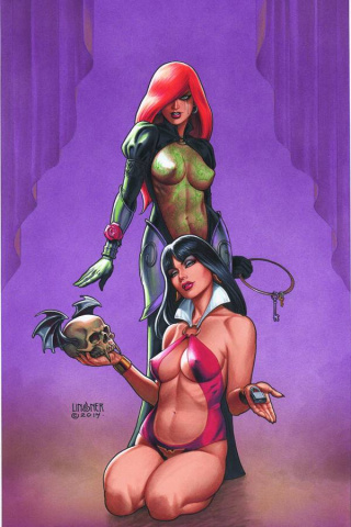 Dawn / Vampirella #3 (Rare Linsner Virgin Cover)