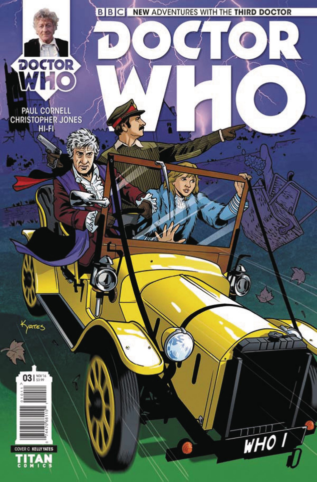 Doctor Who: New Adventures with the Third Doctor #3 (Yates Cover)
