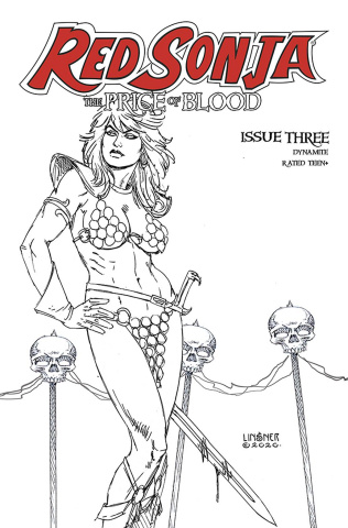 Red Sonja: The Price of Blood #3 (30 Copy Linsner B&W Cover)