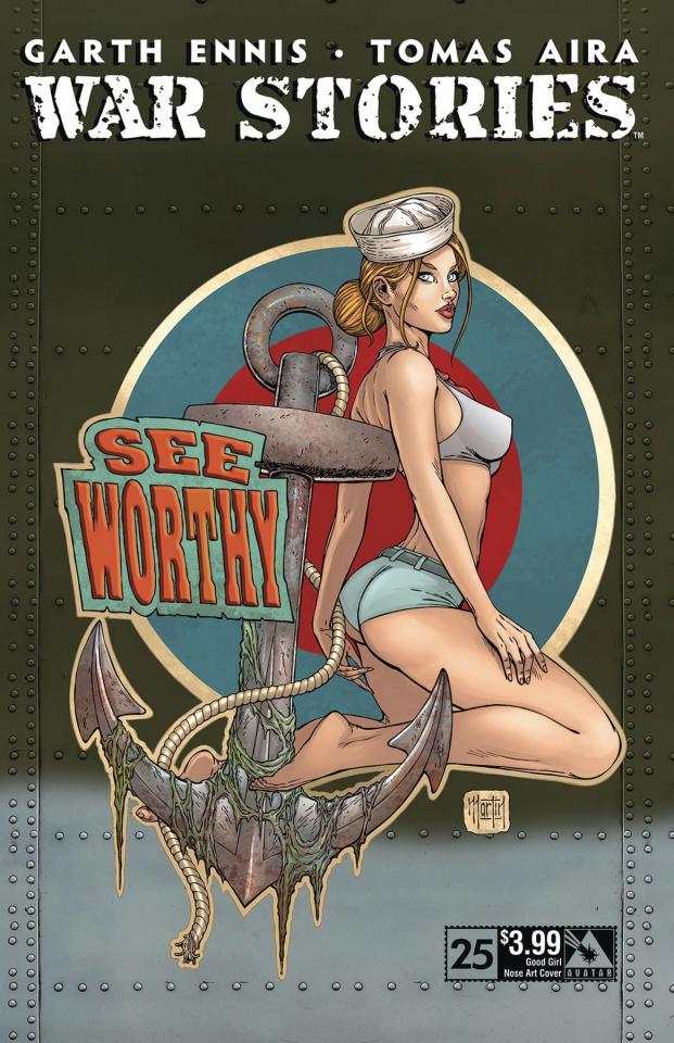 War Stories #25 (Good Girl Nose Art Cover)