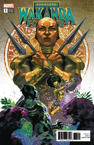 Wakanda Forever: Avengers #1 (Putri Connecting Cover)