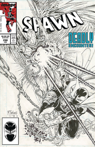 Spawn #298 (B&W McFarlane Cover)