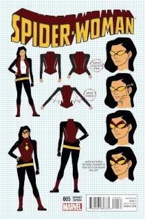 Spider-Woman #5 (Anka Design Cover)