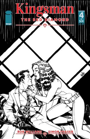 Kingsman: The Red Diamond #4 (B&W Hamner Cover)