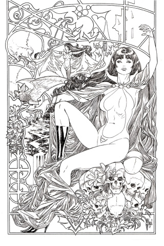 Vampirella #6 (21 Copy March B&W Virgin Cover)