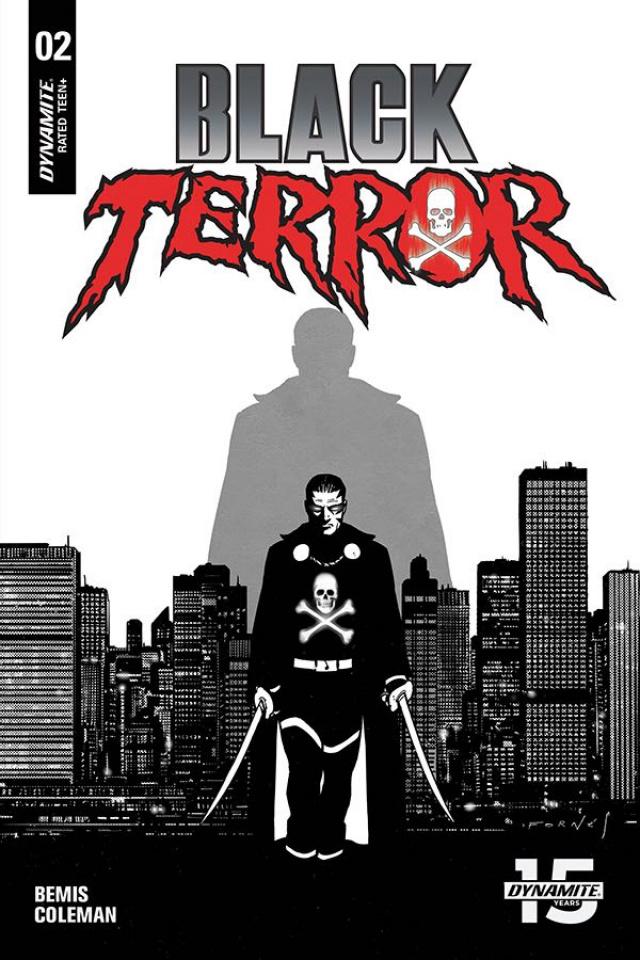 Black Terror #2 (20 Copy Fornes B&W Cover)