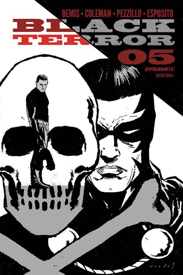 Black Terror #5 (20 Copy Fornes B&W Cover)