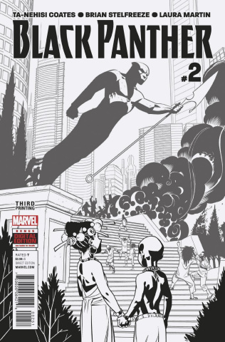 Black Panther #2 (Stelfreeze B&W 3rd Printing)
