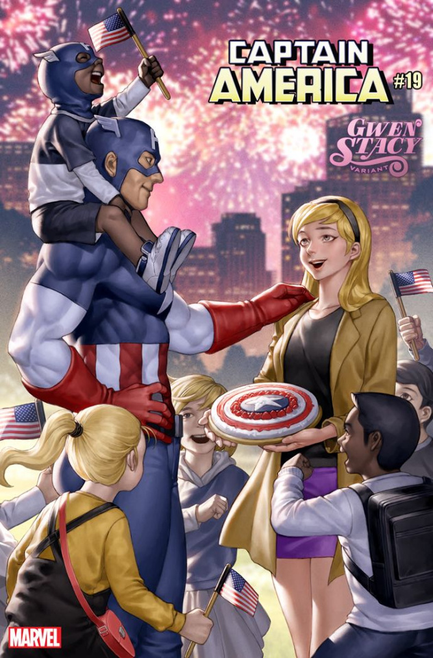 Captain America #19 (Yoon Gwen Stacy Cover)