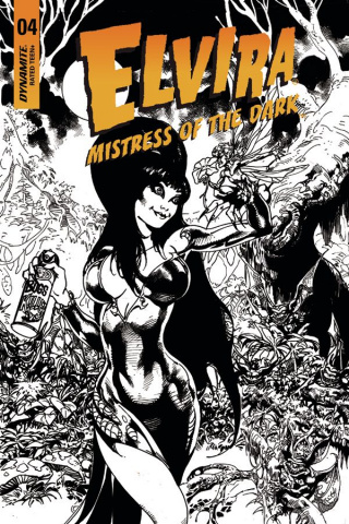 Elvira: Mistress of the Dark #4 (15 Copy Castro B&W Cover)