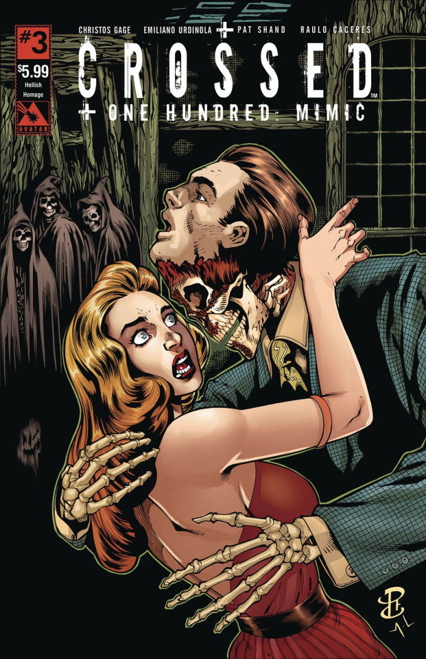 Crossed + One Hundred: Mimic #3 (Hellish Homage Cover)