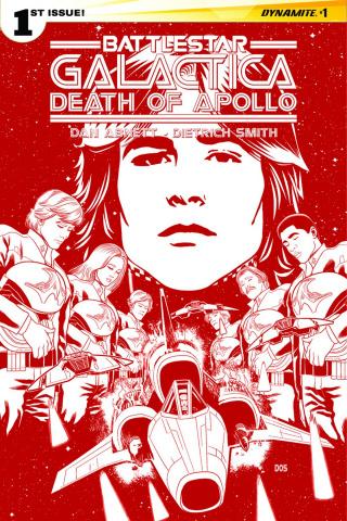 Battlestar Galactica: Death of Apollo #1 (30 Copy Smith Cylon Red Cover)