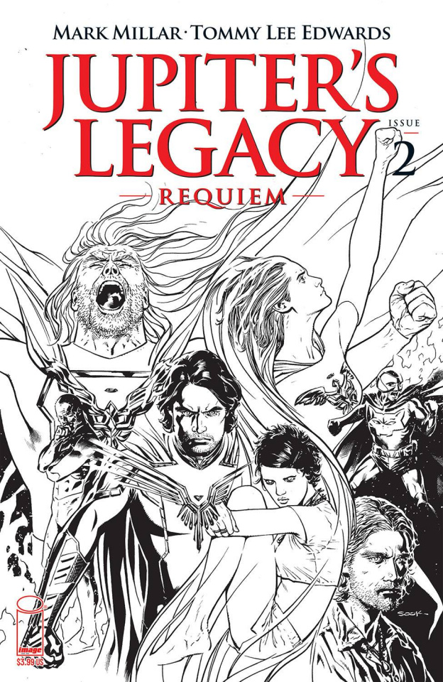 Jupiter's Legacy: Requiem #2 (Sook B&W Cover)