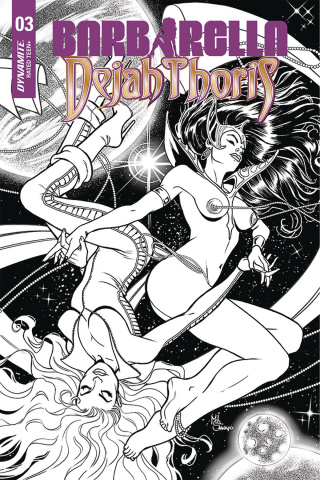 Barbarella / Dejah Thoris #3 (50 Copy Sanapo B&W Cover)