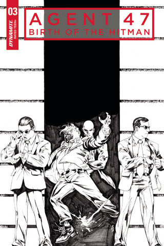 Agent 47: Birth of the Hitman #3 (10 Copy B&W Cover)