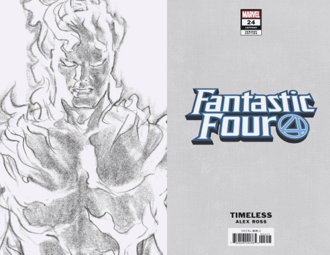 Fantastic Four #24 (Human Torch Timeless Virgin Sketch Cover)