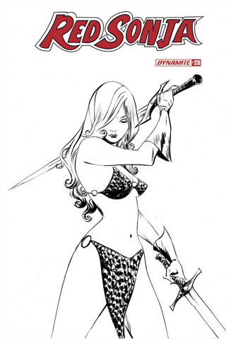 Red Sonja #23 (20 Copy Lee B&W Cover)