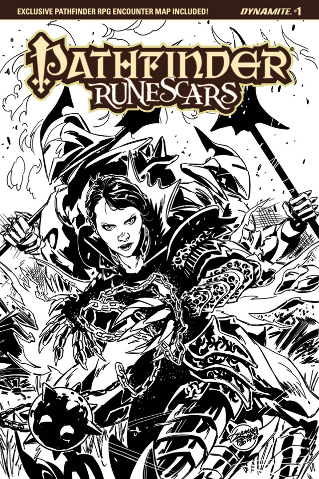 Pathfinder: Runescars #1 (15 Copy Borges B&W Cover)