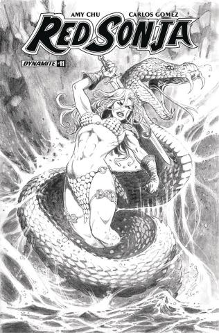 Red Sonja #11 (20 Copy Duursema B&W Cover)