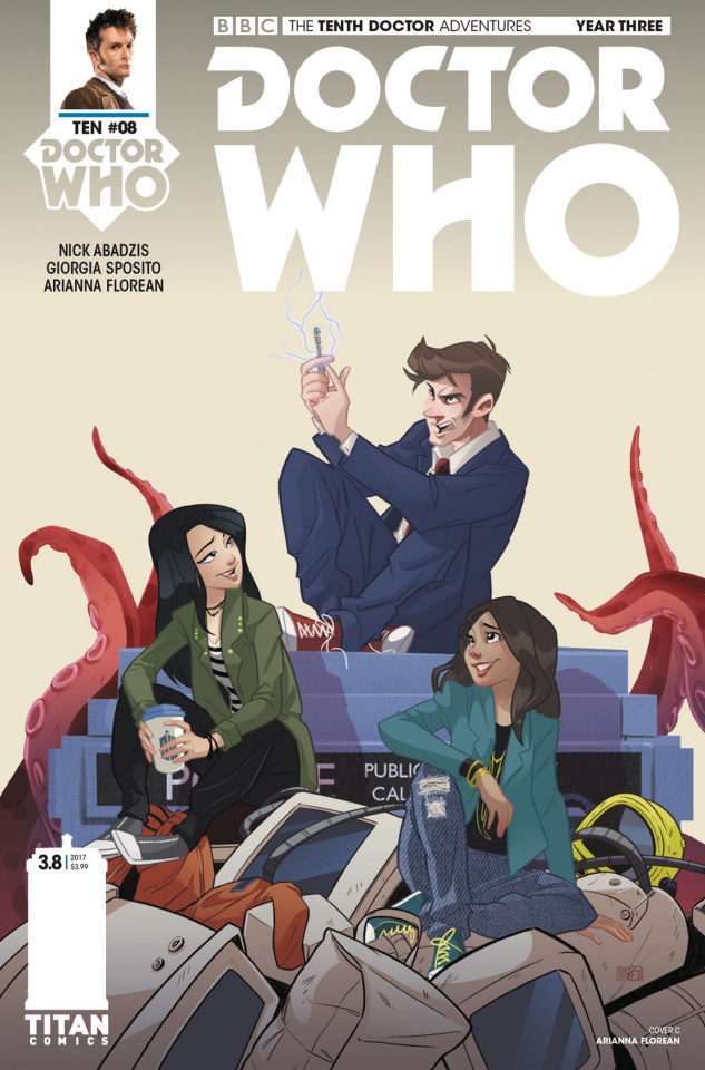 Doctor Who: New Adventures with the Tenth Doctor, Year Three #8 (Florean Cover)