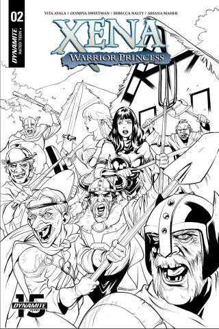 Xena: Warrior Princess #2 (20 Copy Lupacchino B&W Cover)