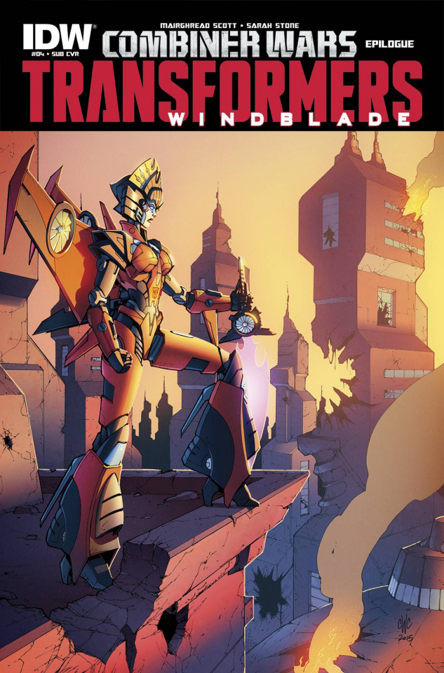 The Transformers: Windblade - Combiner Wars #4 (Subscription Cover)