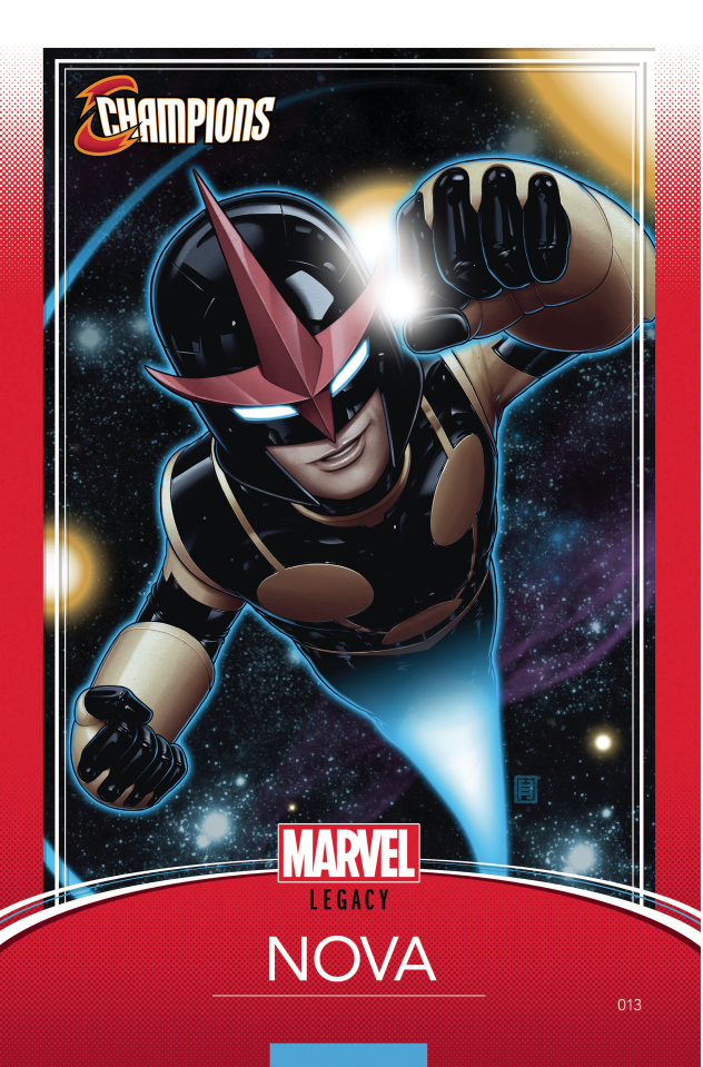 Champions #13 (Christopher Trading Card Cover)