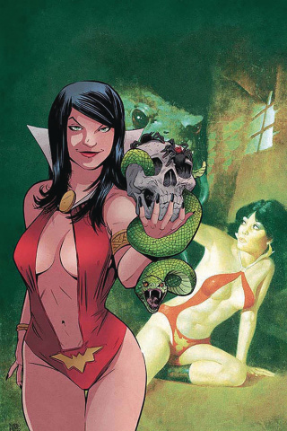 Vampirella / Red Sonja #5 (30 Copy Moss Virgin Cover)