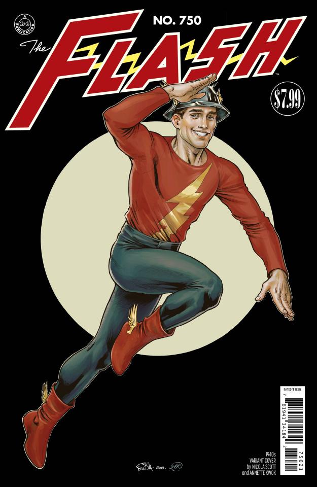 The Flash #750 (1940s Nicola Scott Cover)