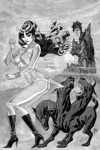 Vampirella #7 (21 Copy March B&W Virgin Cover)