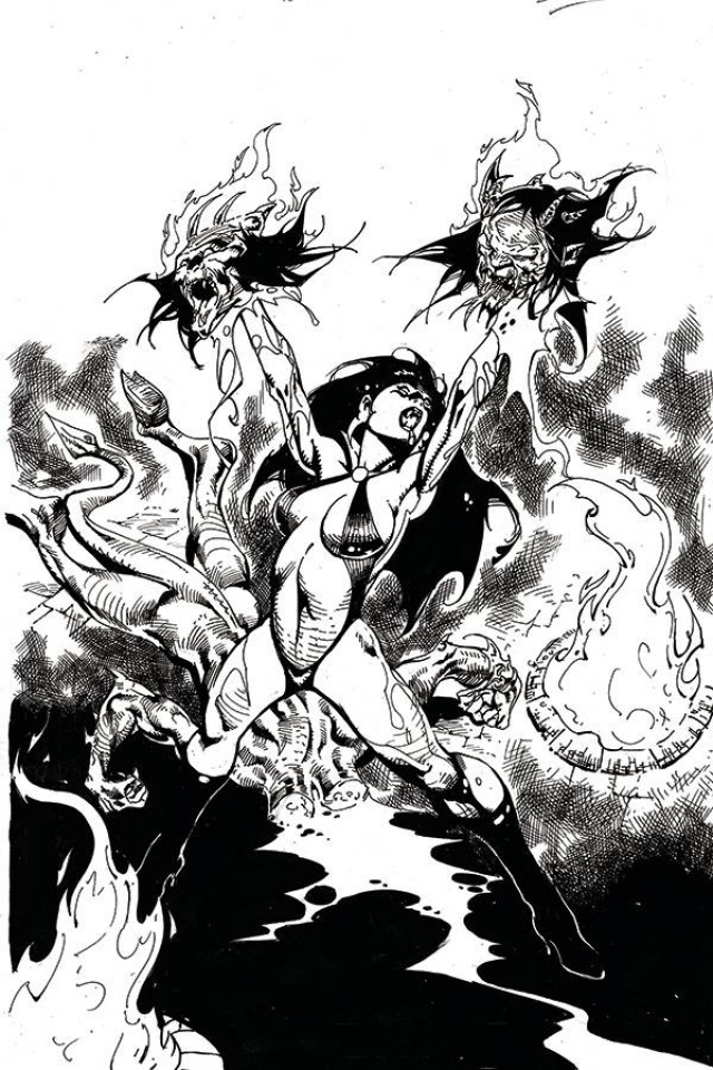 Vengeance of Vampirella #11 (21 Copy Castro B&W Virgin Cover)