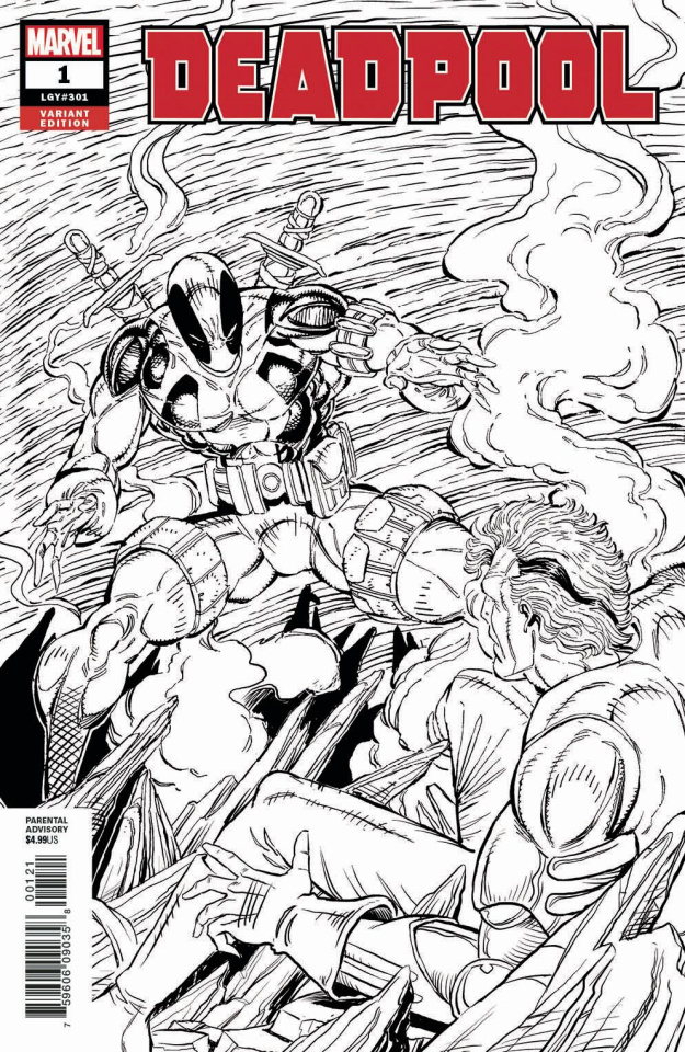 Deadpool #1 (Liefeld B&W Remastered Cover)