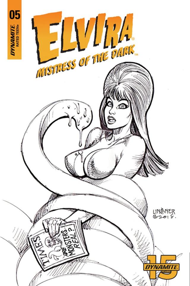 Elvira: Mistress of the Dark #5 (25 Copy Linsner B&W Cover)