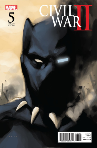Civil War II #5 (Noto Black Panther Cover)