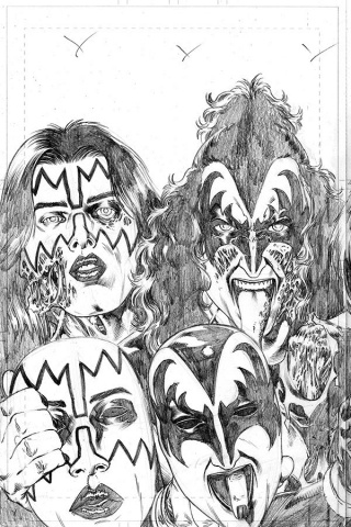 KISS: Zombies #4 (11 Copy Buchemi Pencils Cover)