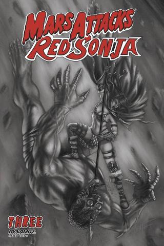 Mars Attacks / Red Sonja #3 (7 Copy Strati Sketch Dressed Cover)