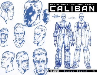 Caliban #6 (Design Sketch Cover)