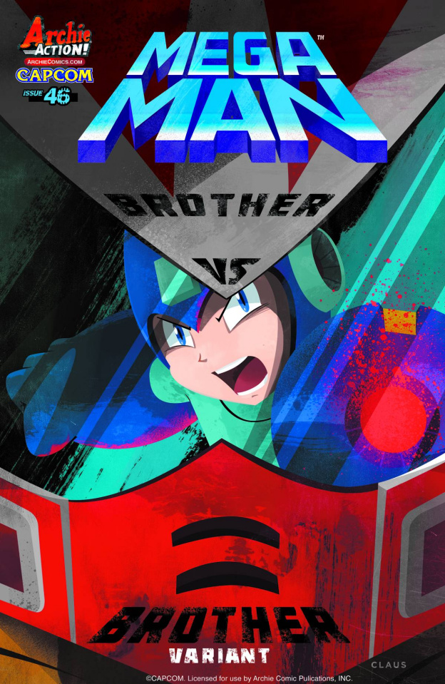 Mega Man #46 (Brother vs. Brother Cover)