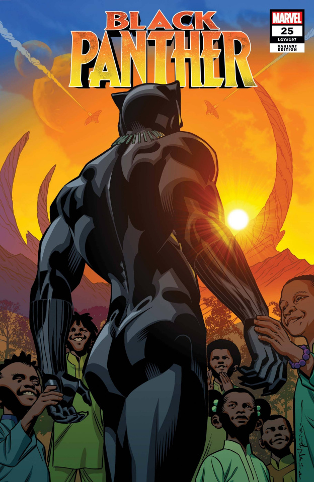 Black Panther #25 (Stelfreeze Final Issue Cover)