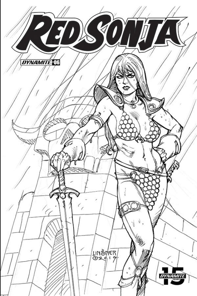 Red Sonja #7 (30 Copy Linsner B&W Cover)